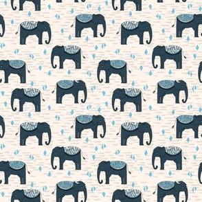 Elephant Parade // small kids baby triangles elephants nursery baby