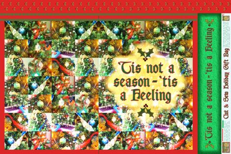 Cut&Sew Holiday Gift Bag ~ Feeling