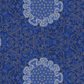 Medieval Kaleidoscope - Blue and Stars