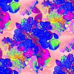 blue garden watercolor floral