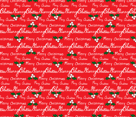 Merry Christmas in red