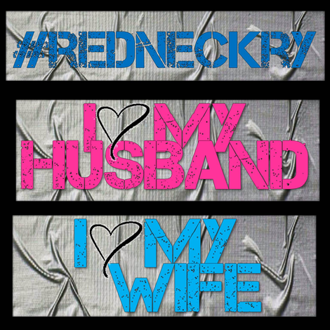 I Love My Husband / Wife / Redneck Duct Tape T-Shirt Patches