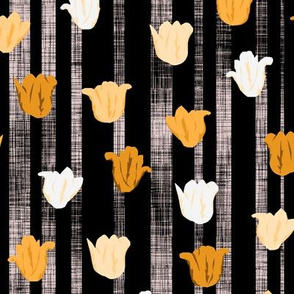Gold Textured Tulip Stripes