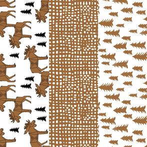moose quilt // stripes quilt cheater quilt kids patchwork crib sheet bedding blanket kids design