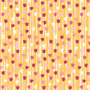 Pink & Gold Textured Tulip Stripes