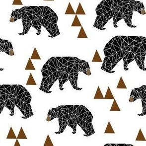 bear // geo bear geometric bear triangles brown bear brown triangles kids baby baby boy nursery