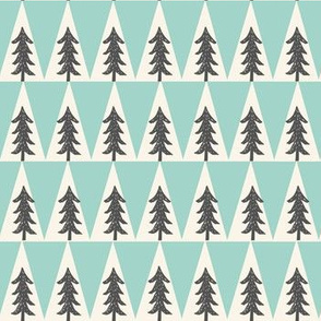 trees // forest mint and grey forest trees triangles crib bedding baby boy nursery kids