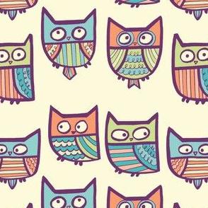 metro retro owls