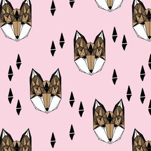 fox // fox head sweet pink little girl baby pink nursery pink fox nursery girls print by andrea lauren