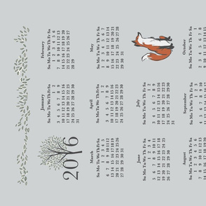 Woodland Friends Calendar in Grey
