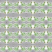Doves Pine Tree Green on Gray