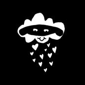 Mask the cloud with heart rain