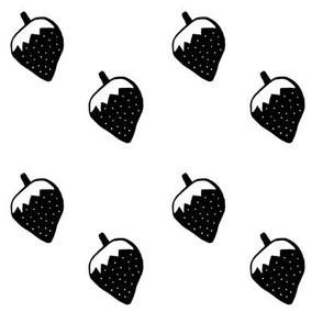 Monochrome strawberry
