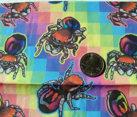 Rainbow Jumping Spider tiles