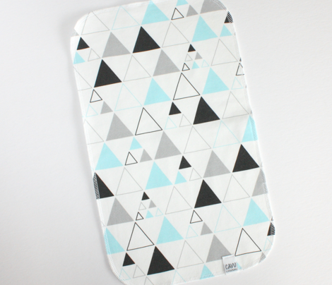 Triangles - Large Stacked in Aqua Gray Charcoal