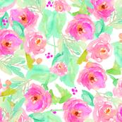 Wild Watercolor Flower Blooms