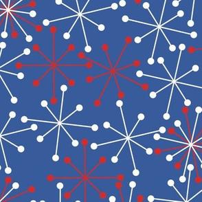 Atomic Snowflakes- XL Blue