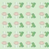 Prince frog and mushroom print