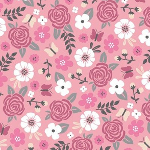 Flowers and Roses  Floral Pink