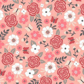 Flowers and Roses  Floral Peach
