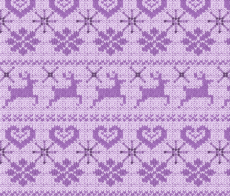 Scandinavian Knitting (Purple)