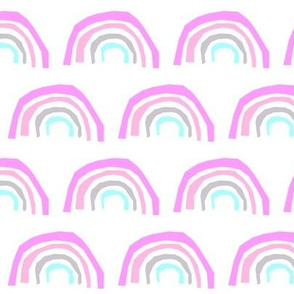 aqua rainbow purple pink grey girly pastel cute rainbow