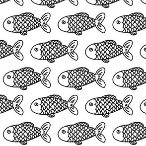 fish black and white kids baby summer water ocean nursery