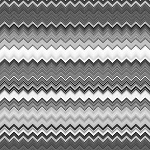 DINOSAURS ZIGZAG CHEVRON Black and White Grey