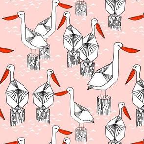 pelicans // nautical summer pink ocean seaside summer cute girls bird