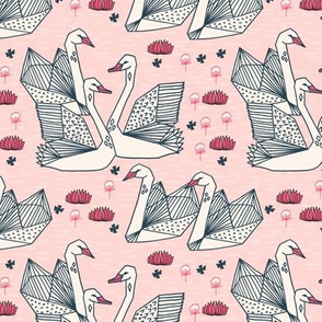 swans // swan bird birds pastel pink baby pink girls pink sweet pink birds