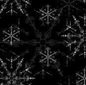 Snowflakes 2015 - black & white
