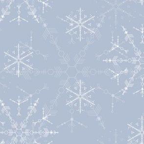 Snowflakes 2015 on silver