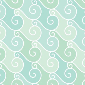Spiral Tempest - Aqua Marine