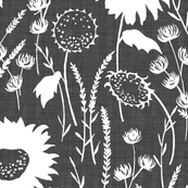 wildfowers - Grey Linen