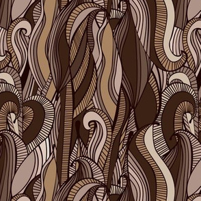 Abstract Chocolate Waves