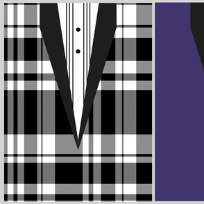 Tuxedo Gift Bag and/or Clutch - Plaid or Solid