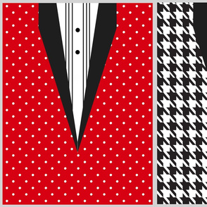 Holiday Gift Bags - Tuxedo Dots and Houndstooth