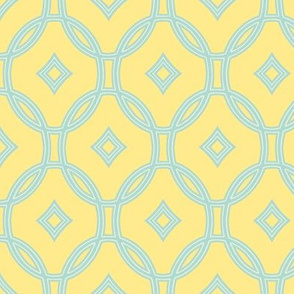diamond lattice on yellow