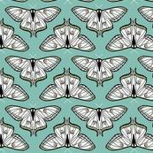 luna moth // blue moth white butterfly sweet pastel spring girls print