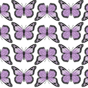 monarch butterflies // purple pastel light cute girly butterfly spring print