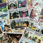 vintage comic book military - MILITARY