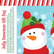 Jolly Snowman Gift Bag
