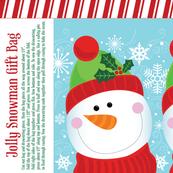 Jolly Snowman Gift Bag
