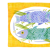 Fish Platter (Linen-Cotton Canvas size only)
