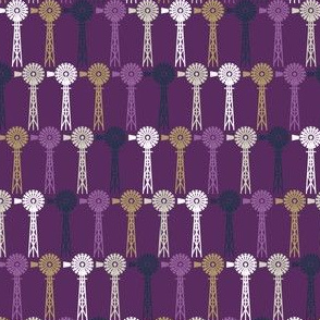 Autumn Plum Windmills - Plum