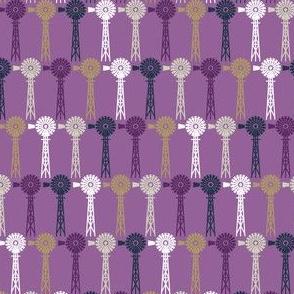Autumn Plum Windmills - Mauve