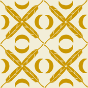 Feather Lattice - mustard