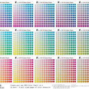 CMYK Color Chart part 2.0 - 1815 more colors!