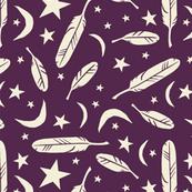 Night Messenger - eggplant