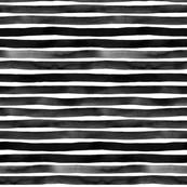 Black Watercolor Stripes by Friztin